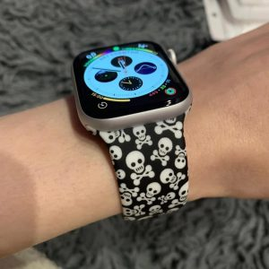 Apple Watch Bands Printed Soft Silicone Pirate Series 1 2 3 4 5 38mm 40mm 42mm 44mm