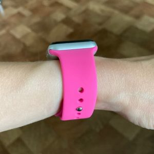 Bright Sports Apple Watch Band Barbie Pink