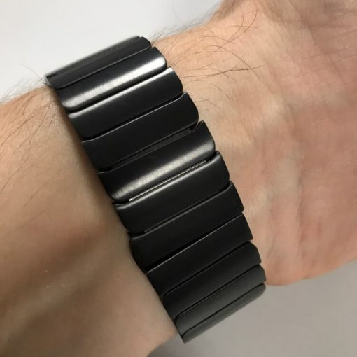 Black Luxury Stainless Steel Apple Watch Band for Series 1 2 3 4 5 38mm 40mm 42mm 44mm
