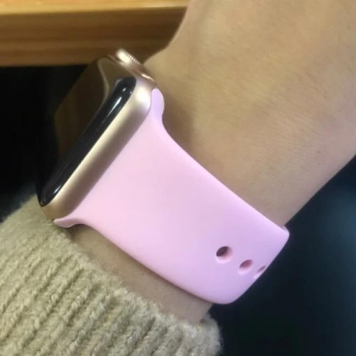 Bright Sports Apple Watch Band Light Pink