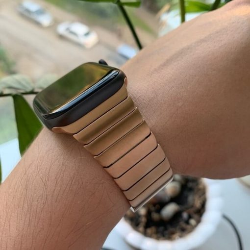 Rose Gold Luxury Stainless Steel Apple Watch Band for Series 1 2 3 4 5 38mm 40mm 42mm 44mm