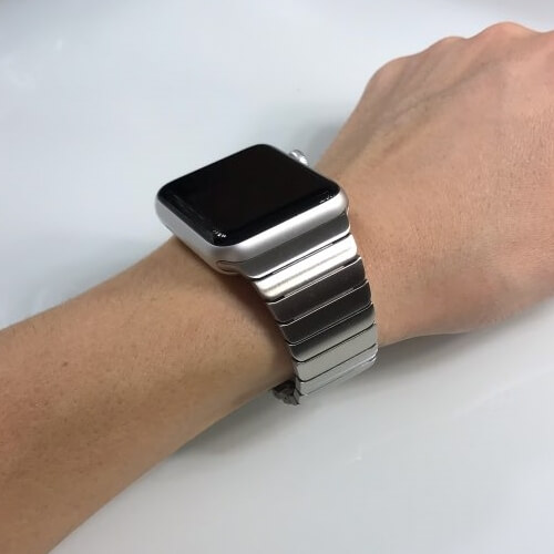 Silver Luxury Stainless Steel Apple Watch Band for Series 1 2 3 4 5 38mm 40mm 42mm 44mm