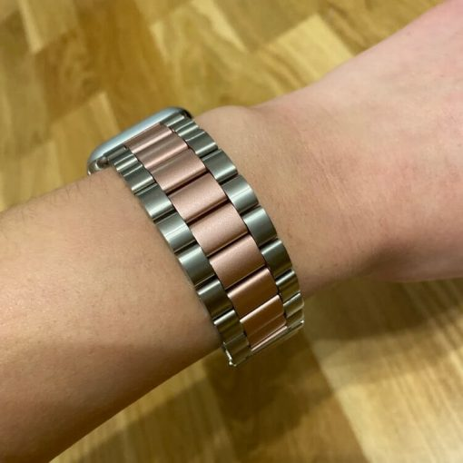 Apple Watch Bands - Stainless Steel Band Mix Rose Gold Series 5 4 3 2 1 38mm 40mm 42mm 44mm