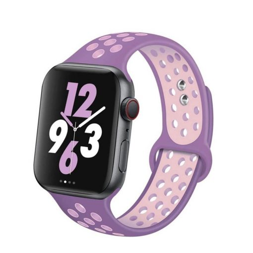 Apple Watch Bands - Breathable Sports Apple Watch Band Purple Pink Series 6 SE 5 4 3 2 1 38mm 40mm 42mm 44mm