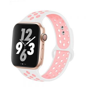 Apple Watch Bands - Breathable Sports Apple Watch Band White Pink Series 6 SE 5 4 3 2 1 38mm 40mm 42mm 44mm