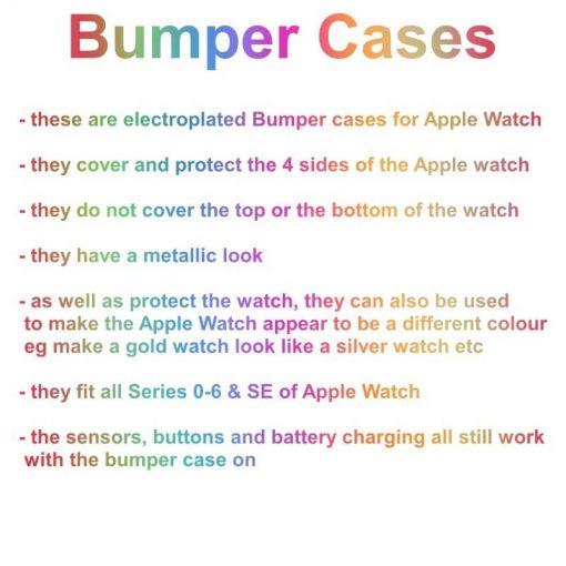 Apple Watch TPU Bumper Protector Info