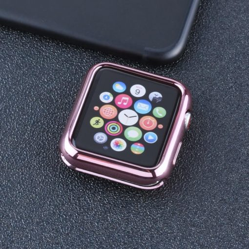 Apple Watch TPU Bumper Protector - Pink Gold