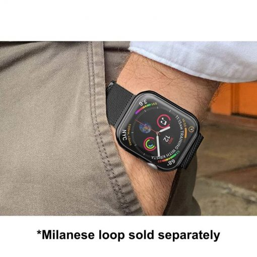 Apple Watch Soft TPU Case Protector - Milanese Loop with Black Protector
