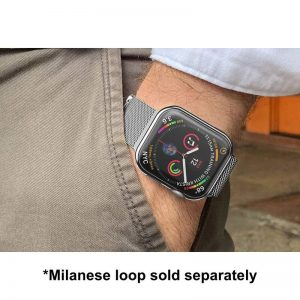 Apple Watch Soft TPU Case Protector - Milanese Loop with Silver Protector