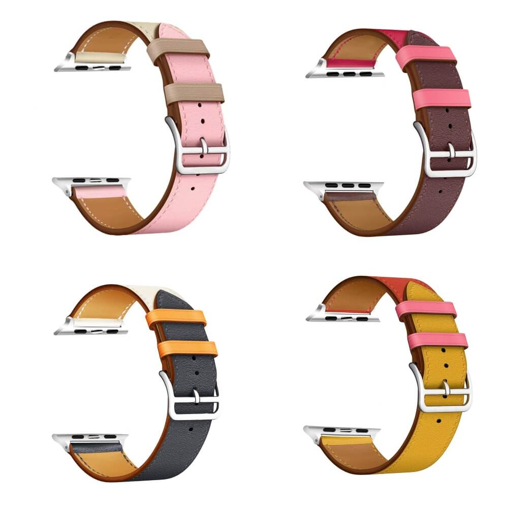 Vibrant Leather Apple Watch Bands Range