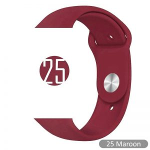 Bright Sports Apple Watch Band Maroon 40mm 44mm
