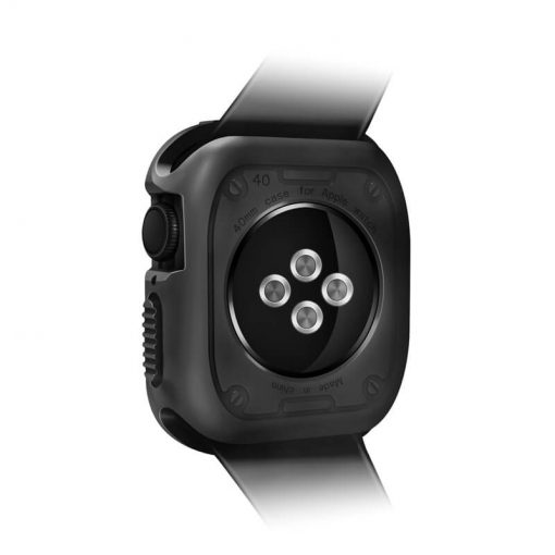 Apple Watch Rugged Armor Bumper Protector - Black