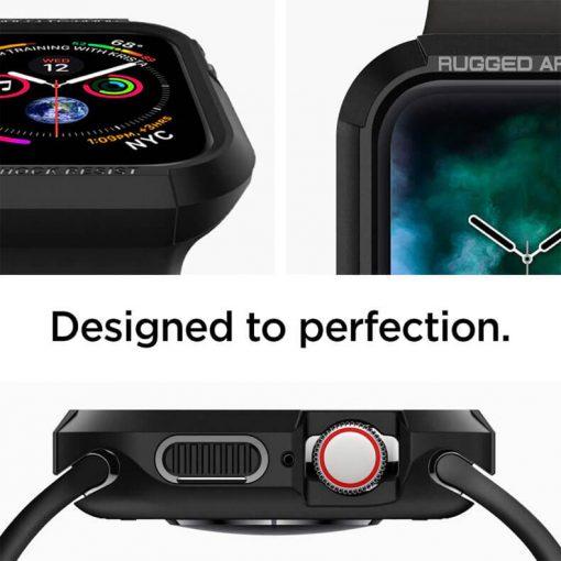 Apple Watch Rugged Armor Bumper Protector - Black