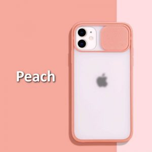 iphone 12 case camera slider Peach