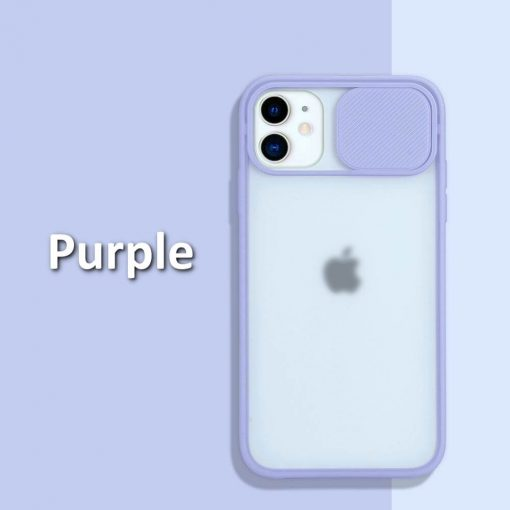 iphone 12 case camera slider Purple
