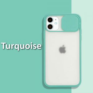 iphone 12 case camera slider Turquoise