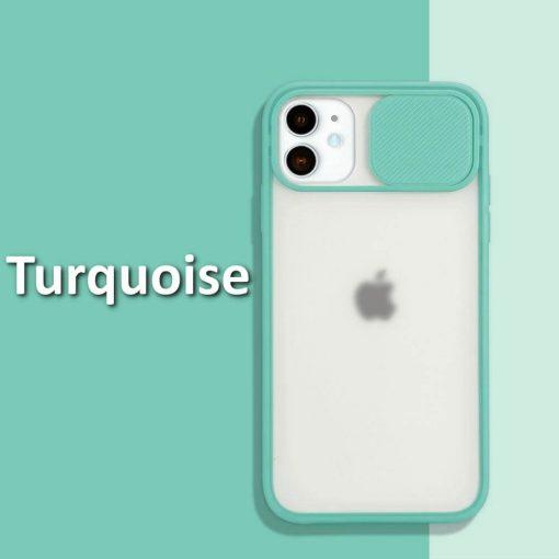 iphone 12 case camera slider Turquoise