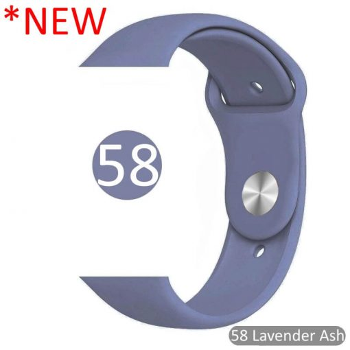 58 Lavender Ash Bright Sports Silicone Apple Watch Band