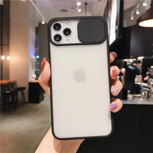 iphone 12 case camera slider Black