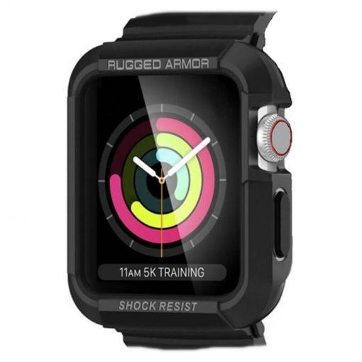 Apple Watch Rugged Bumper Protector - Black