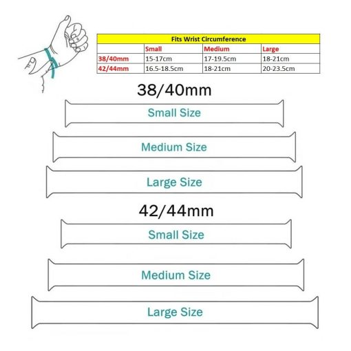 Solo Sports Loop Apple Watch Band - Sizing Information