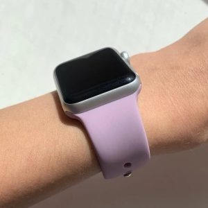 Apple Watch Bands - Bright and Soft Silicone Sports Apple Watch Band Light Purple Series 38mm 40mm 42mm 44mm