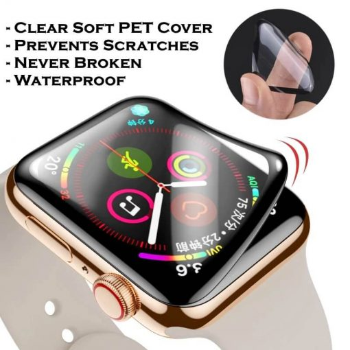 Clear Soft PET Cover for Apple Watch 40mm 44mm