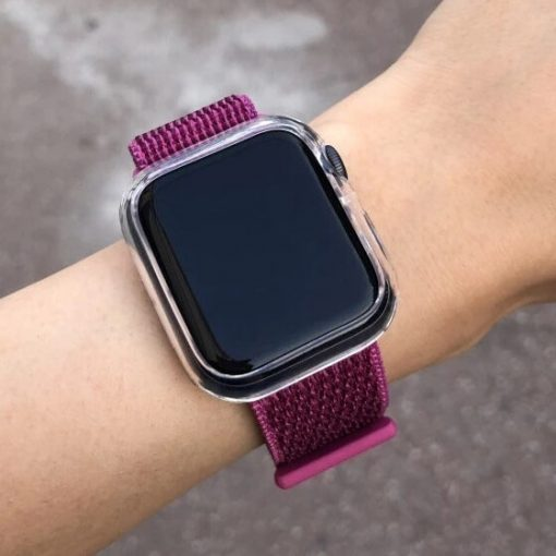 Dragon Sport Loop with a Clear TPU Apple Watch Bumper Protector