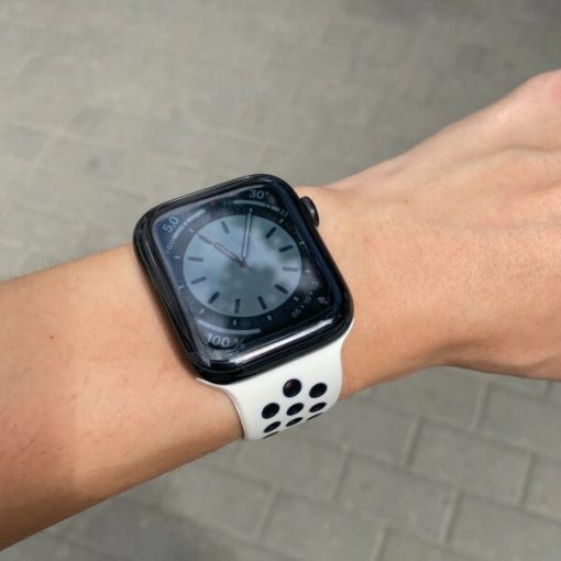 Apple Watch Bands - Breathable Sports Antique White Black Series 6 SE 5 4 3 2 1 38mm 40mm 42mm 44mm