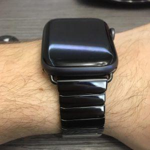 Ceramic Apple Watch Band - Black