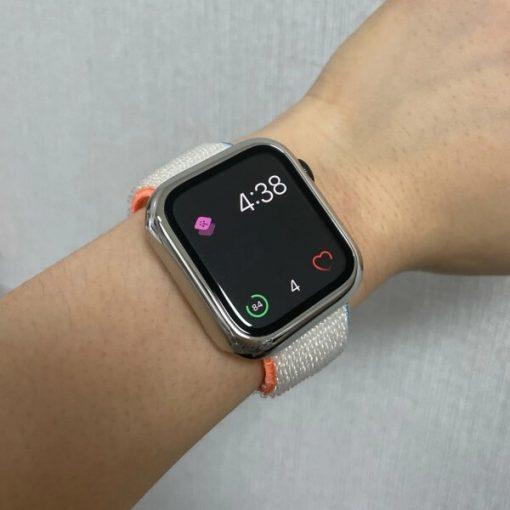 Apple Watch Bands - Sport Loop Colour 66 Cream 38mm 40mm 42mm 44mm
