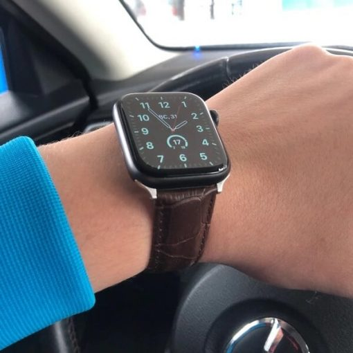 Apple Watch Bands - Casual Leather Band Straps Coffee Series 1 2 3 4 5 38mm 40mm 42mm 44mm