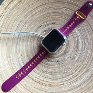 Purple-Yellow Modern Sports Apple Watch Band
